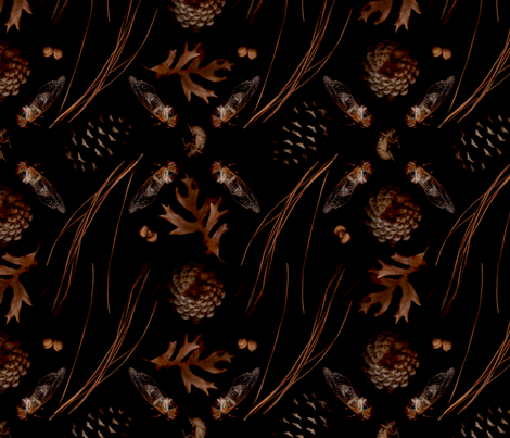 Autumn Evening fabric by madam0wl on Spoonflower - custom fabric