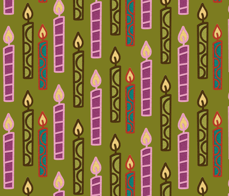 candles fabric by jnifr on Spoonflower - custom fabric
