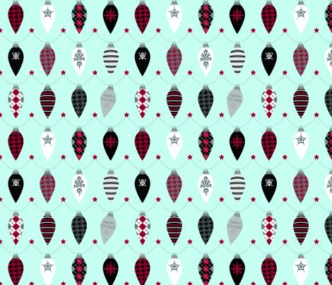 Bauble Garland fabric by jackieatweelife on Spoonflower - custom fabric