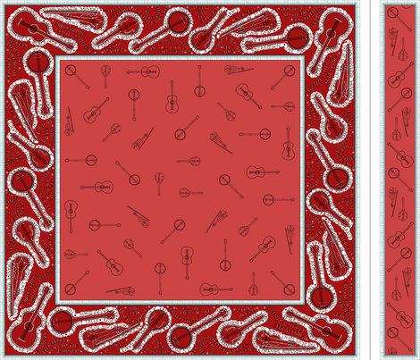red_Bluegrass_BANDana_and_headband fabric by victorialasher on Spoonflower - custom fabric