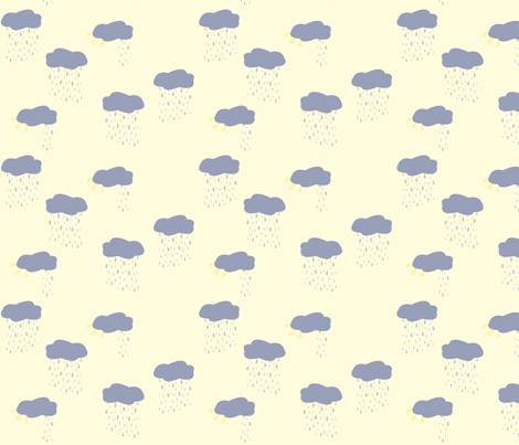 rainy_cloud_sun_cloud fabric by featheredneststudio on Spoonflower - custom fabric