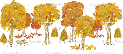 Fall Leaves and Stems