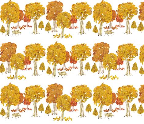 Fall Leaves and Stems fabric by oranshpeel on Spoonflower - custom fabric