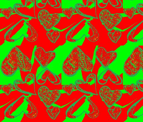 Christmas Love fabric by robin_rice on Spoonflower - custom fabric
