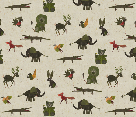 Leif's Zoo fabric by jenimp on Spoonflower - custom fabric