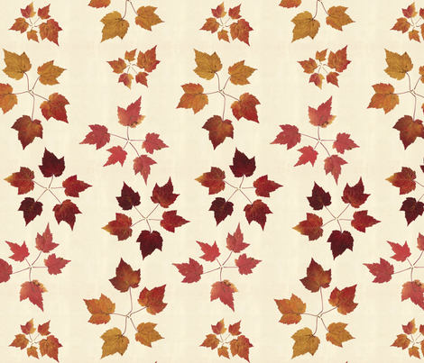 Leaf circles fabric by linkolisa on Spoonflower - custom fabric