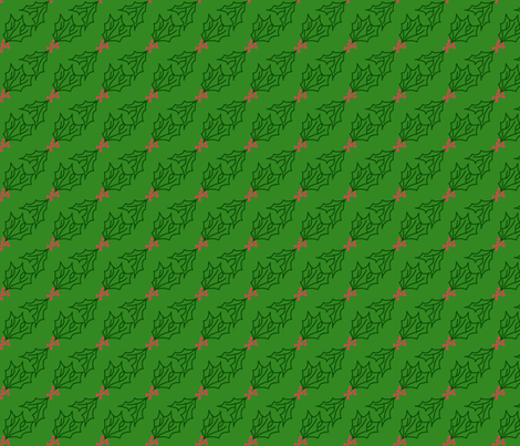 diagonal_holly_doodle fabric by victorialasher on Spoonflower - custom fabric