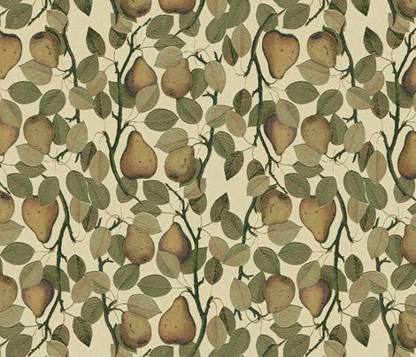 Vintage Pears fabric by hauteideas on Spoonflower - custom fabric