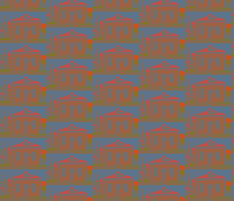 Houses fabric by dolphinandcondor on Spoonflower - custom fabric