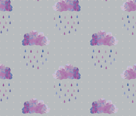 Prismatic Rain Clouds fabric by janelle_wooten on Spoonflower - custom fabric