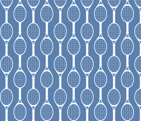 Blue Rackets fabric by audreyclayton on Spoonflower - custom fabric