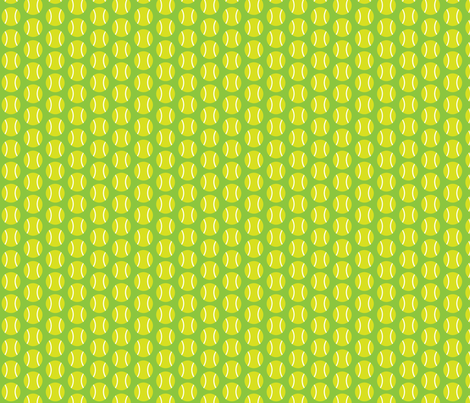 Small Half-Drop Light Green Tennis Balls fabric by audreyclayton on Spoonflower - custom fabric