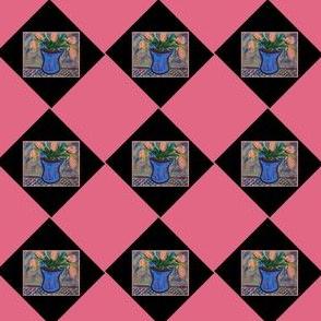 Blue Vase Argyle #8