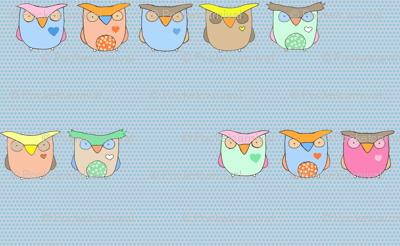 Baby Owls - Blue Polka Dots