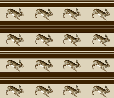 Chocolate Rabbits fabric by hauteideas on Spoonflower - custom fabric