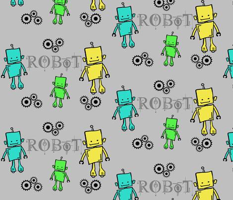 Corbin's Robots fabric by sierramtlion on Spoonflower - custom fabric