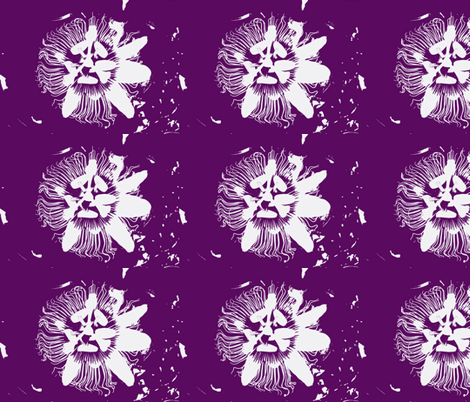 Passion flower fabric by blue_jacaranda on Spoonflower - custom fabric