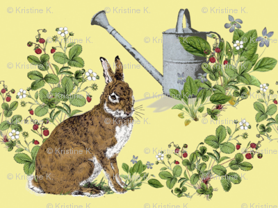 Bunny in the Berry Patch