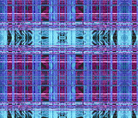 Pink and Blue Plaid fabric by robin_rice on Spoonflower - custom fabric