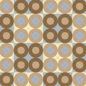 Blue Argyle Circles