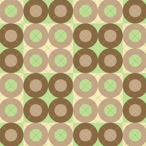 Green Argyle Circles