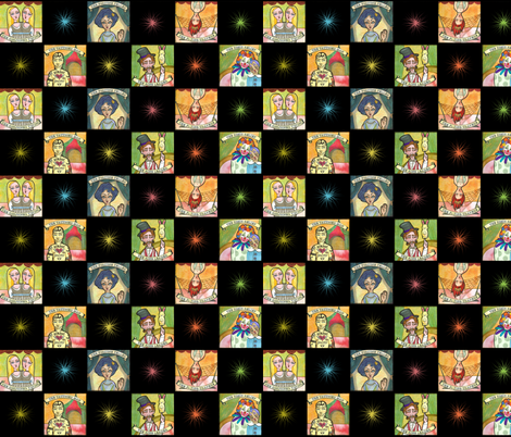 At the Circus | Checkerboard fabric by shellimakesstudio on Spoonflower - custom fabric