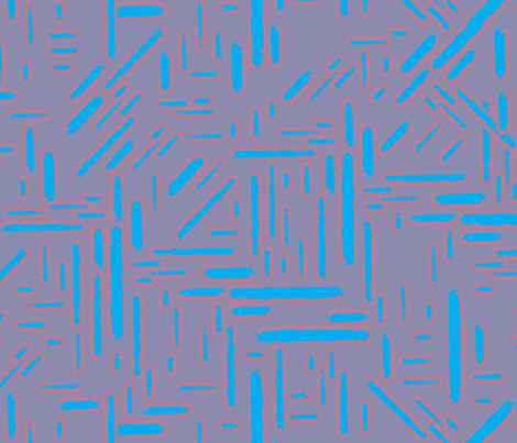 Frequency Blue fabric by dolphinandcondor on Spoonflower - custom fabric