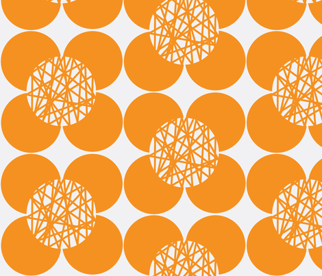 Fifties Flower Orange fabric by joheadington on Spoonflower - custom fabric