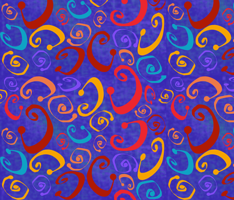 Mardi Gras fabric by poetryqn on Spoonflower - custom fabric