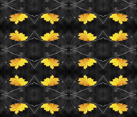 the last leaf fabric by winter on Spoonflower - custom fabric