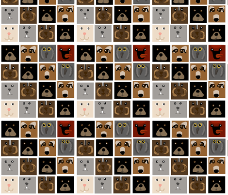 Woodland Faces fabric by winter on Spoonflower - custom fabric