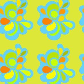 Lime alien flower