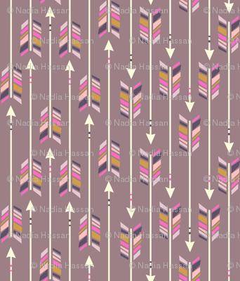 Large Arrows: Pale Aubergine
