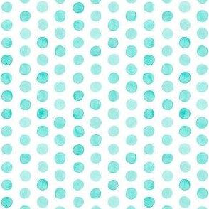 Small Watercolor Dots: Turquoise