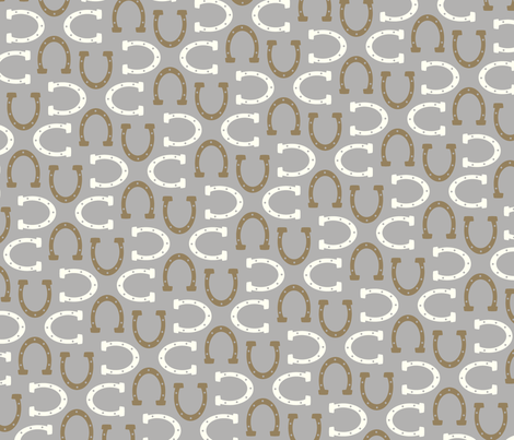 Horsin' Around: Gray fabric by nadiahassan on Spoonflower - custom fabric