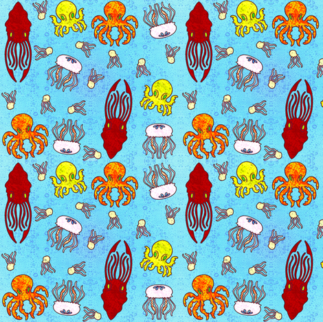 Sea Life fabric by jadegordon on Spoonflower - custom fabric
