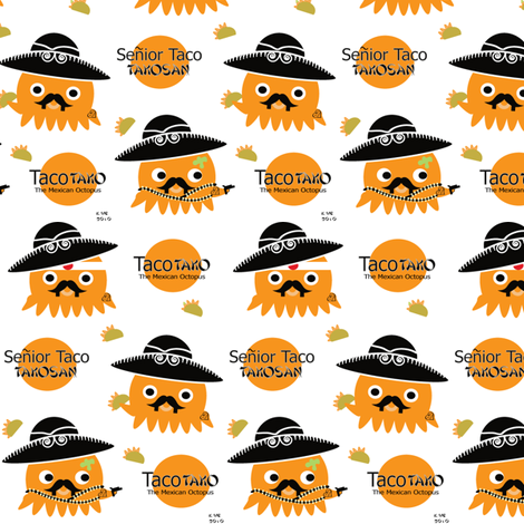 Senior Taco Takosan fabric by kiwicuties on Spoonflower - custom fabric