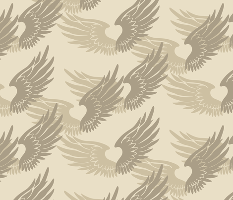 Heartwings: Desert fabric by penina on Spoonflower - custom fabric