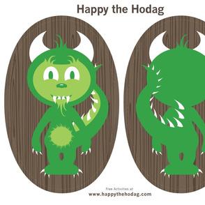Happy the Hodag Pillow