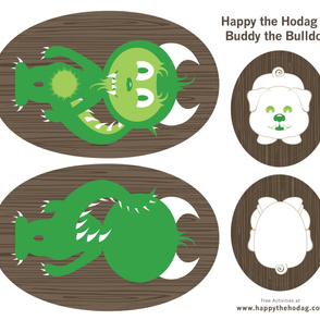 Happy the Hodag & Buddy the Bulldog Pillows