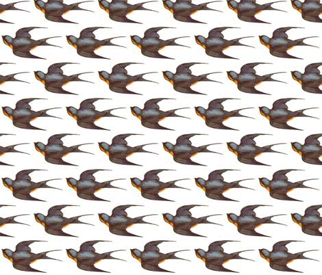 Vintage Swallow fabric by thesincerescissors on Spoonflower - custom fabric