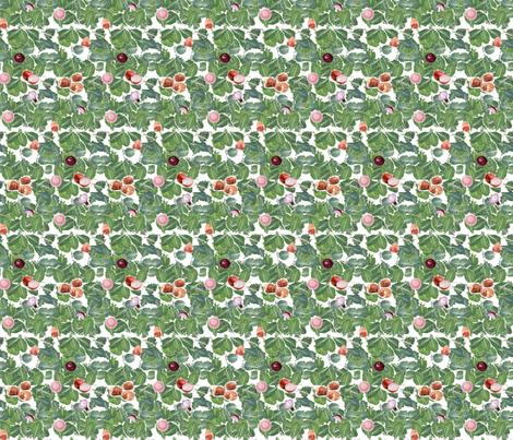 Scattered Collard Greens II fabric by kkitwana on Spoonflower - custom fabric