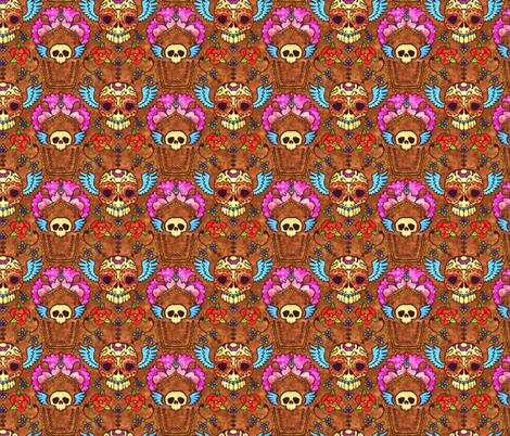 Skulls Revisit fabric by jadegordon on Spoonflower - custom fabric