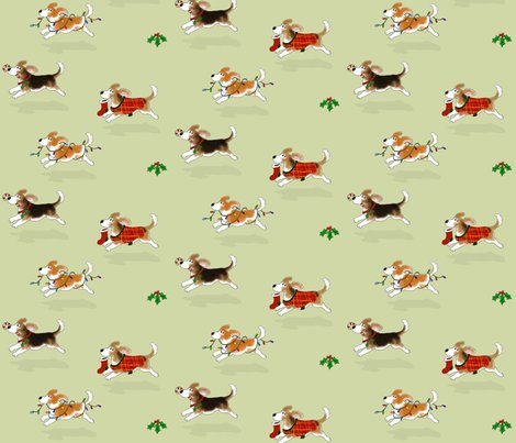 Rchristmas_beagles_fabric_shop_preview