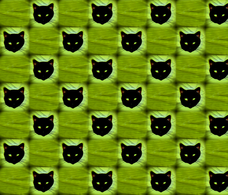 Black Cat Check fabric by robin_rice on Spoonflower - custom fabric