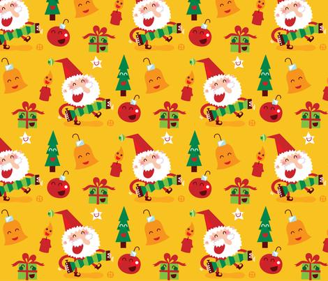 Happy Xmas! fabric by bora on Spoonflower - custom fabric