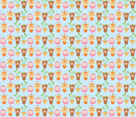 Forest Friends fabric by smilerecipe on Spoonflower - custom fabric
