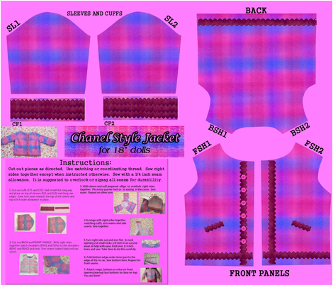 Chanel_Style_Jacket_fat_q fabric by bnnybee on Spoonflower - custom fabric