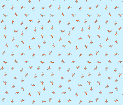 tossed foxes fabric by fox_and_squirrel on Spoonflower - custom fabric