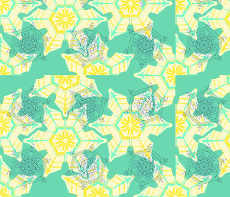 Blue Snow fabric by maeula on Spoonflower - custom fabric